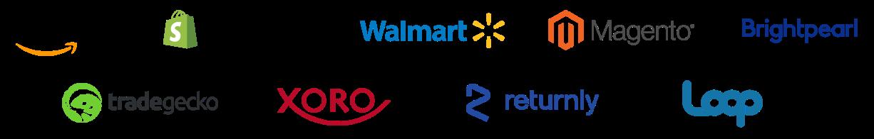 Ecommerce integration partners like amazon and shopify
